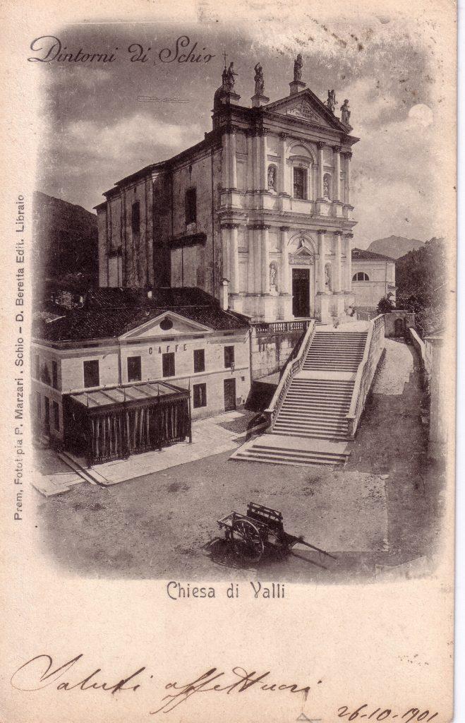 Foto storica chiesa di Valli