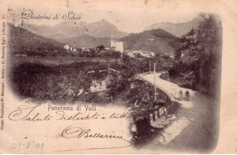 foto storica panorama di Valli
