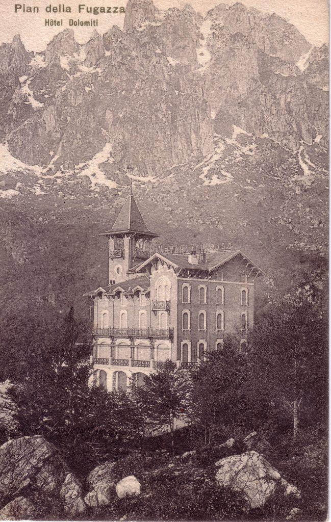 foto storica dell'hotel Dolomiti