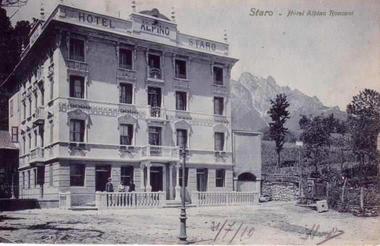 Foto storica dell'hotel alpino di Staro