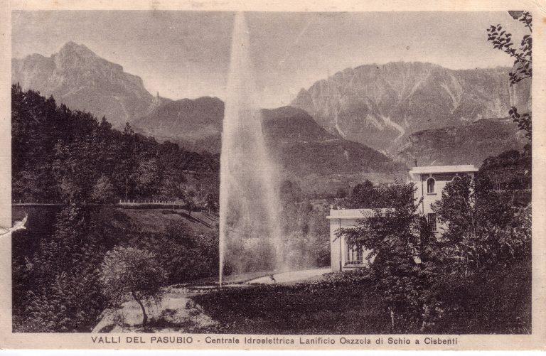 Foto storica della centrale idroelettrica lanificio Cazzola