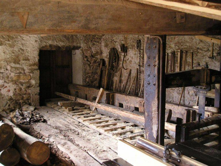 interno della segheria alla veneziana